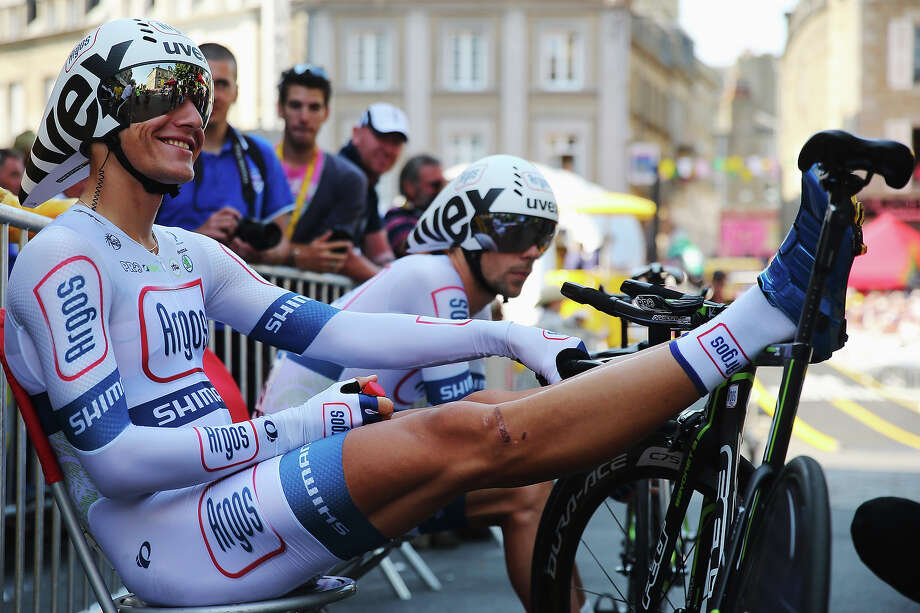 Marcel Kittel of Germany and Team Argos-Shimano prepares to ride during stage eleven of the 2013 Tour de France, a 33KM Individual Time Trial from Avranches to Mont-Saint-Michel, on July 10, 2013 in Avranches, France. Photo: Bryn Lennon, Getty Images / 2013 Getty Images