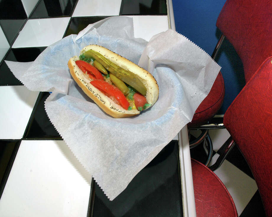 Chicago Style Hot Dog at Jerry's Chicago Style Hot Dogs, 149 E. Commerce St. between St. Mary's and Soledad streets, (210) 465-8200.