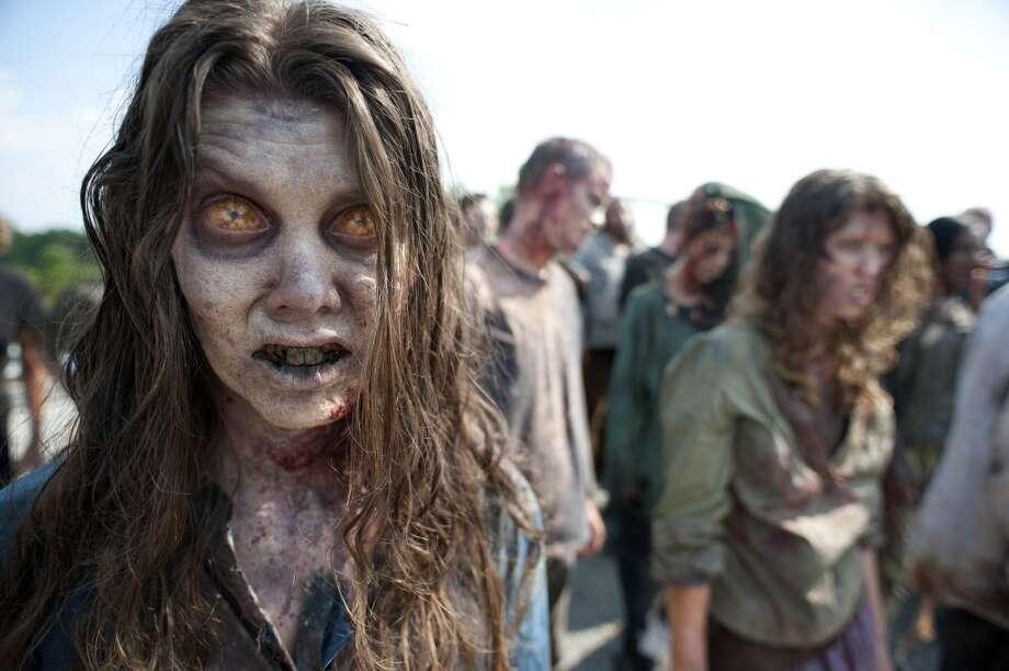 Q: Fashion Week or Halloween Costume?A:Walking Dead zombie
