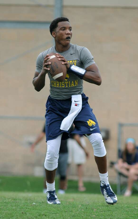 Westbury Christian quarterback D'Eriq King was named to the Top 25 Sophomores list by Texas Football. Photo: Jerry Baker, Freelance