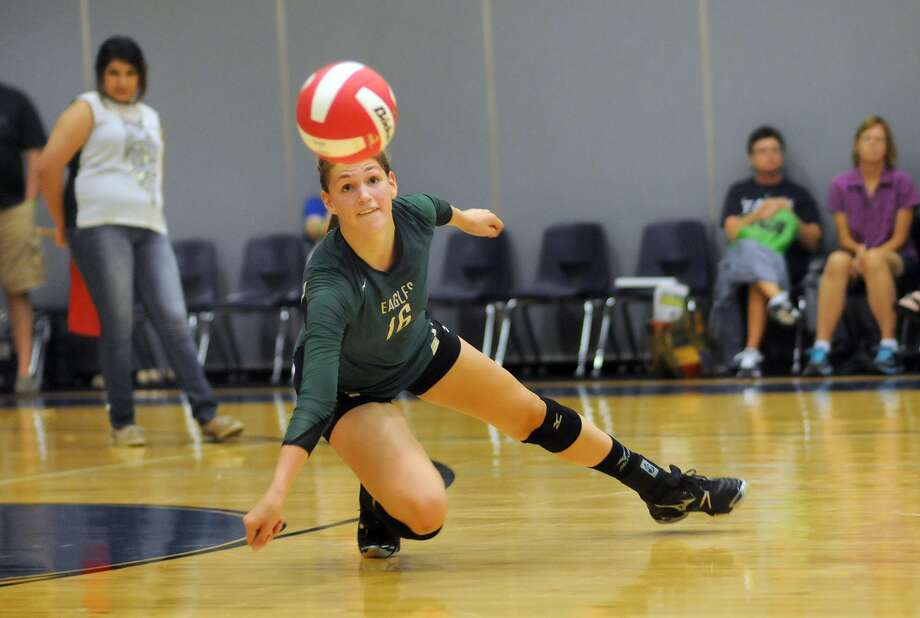 Cypress Falls' Middle blocker and outside hitter Patricia Van Pelt was the district's Most Outstanding Hitter last season. Photo: Jerry Baker, Freelance