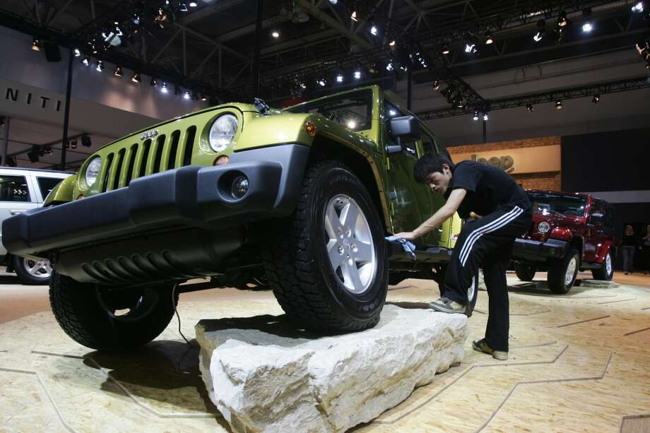 Worst: Jeep Wrangler Unlimited SaharaBase price: $22,295 - $34,295  (Photo credit should read STR/AFP/Getty Images)