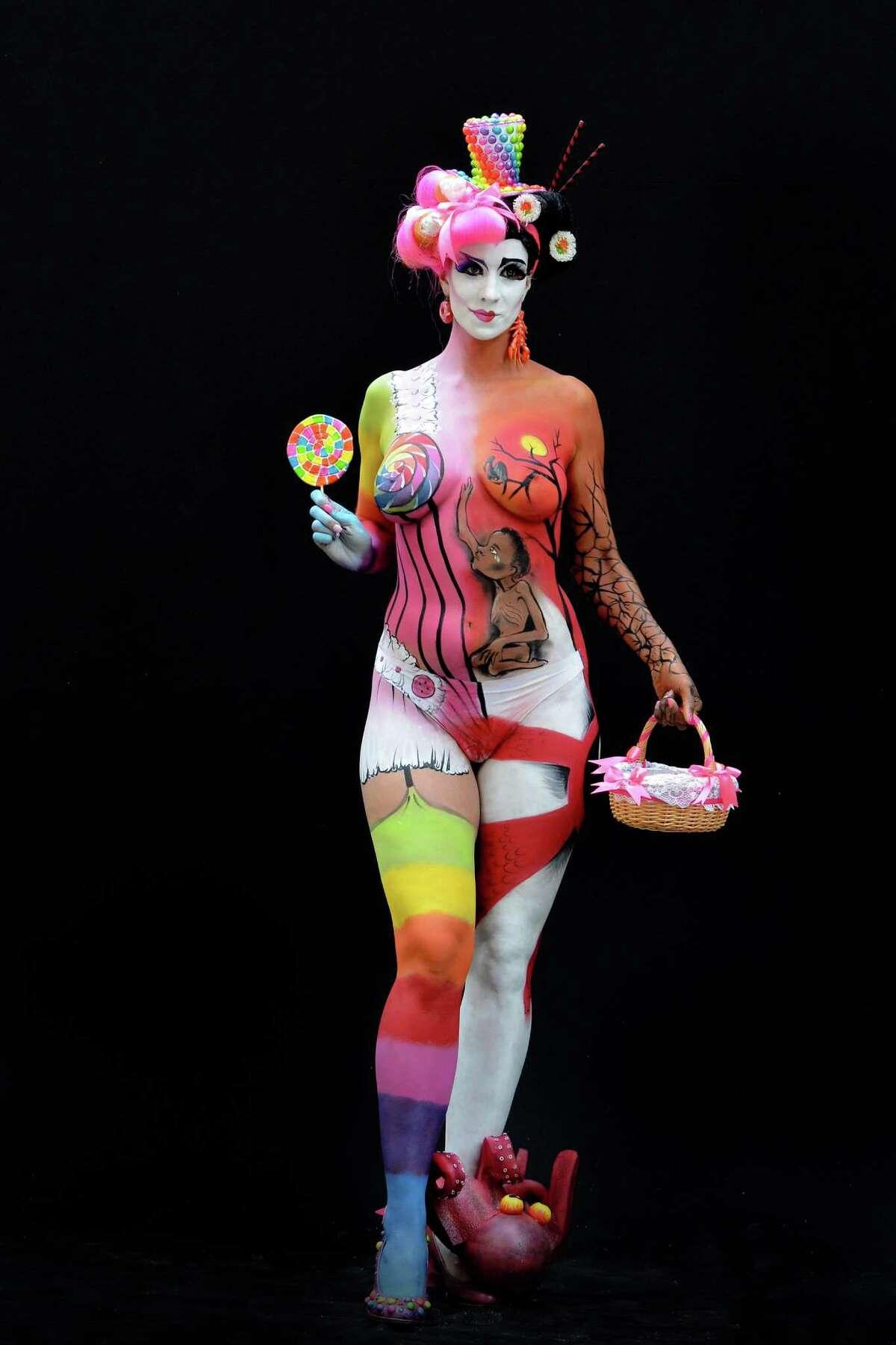 World Bodypainting Festival shows stunning artwork on