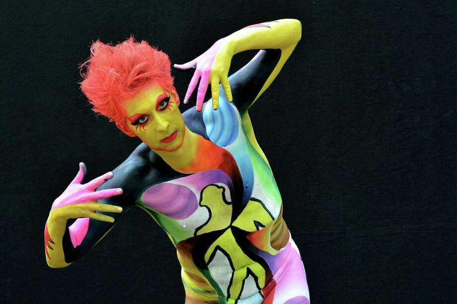 A participant poses with her body paintings designed by bodypainting artist Hyeon Jai YOO during the 16th World Bodypainting Festival in Poertschach on July 6, 2013 in Poertschach am Woerthersee, Austria. Photo: Didier Messens, Getty Images / 2013 Didier Messens