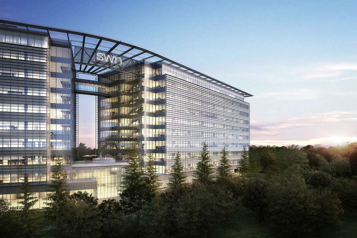 Southwestern Energy Co. officials broke ground June 17 on its 515,000-square foot headquarters, seen in a rendering above.