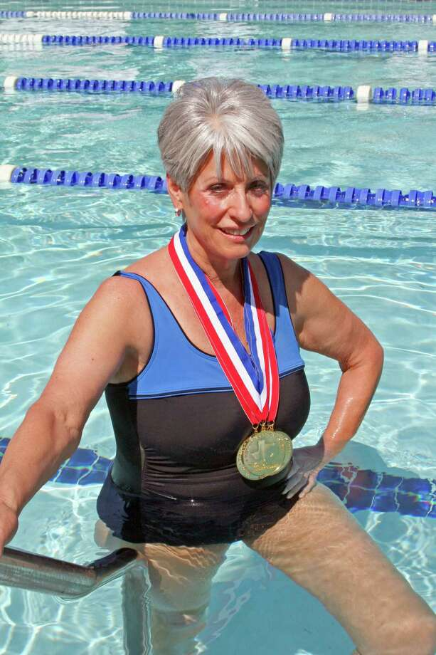 Once considered morbidly obese, De Ette Sauer, 71, has won many medals in swimming and is competing in the National Senior Games in Cleveland, Ohio. Photo: Handout