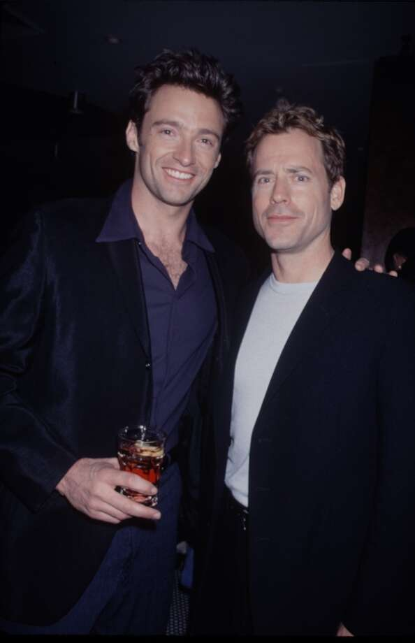 "Hugh Jackman, here with Greg Kinnear in 1990, played Charles ""Chicka"" McCray in the TV crime drama ""Law of the Land"" in 1994."