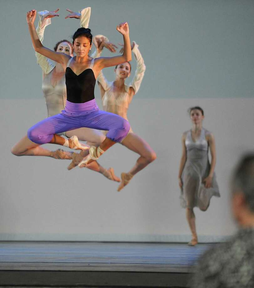 Members of the National Ballet of Canada conduct a full dress rehearsal Tuesday afternoon, July 16, 2013, at the Saratoga Performing Arts Center prior to their debut performance at SPAC in Saratoga Springs, N.Y. (Lori Van Buren / Times Union) Photo: Lori Van Buren / 00023199A