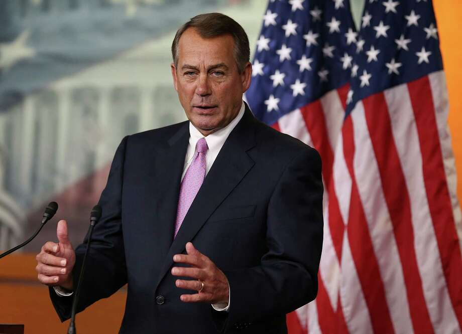 Speaker John Boehner leads the House Republicans who muscled through a farm bill that rewarded corporate farmers and punished Americans who need food stamps. Photo: Getty Images