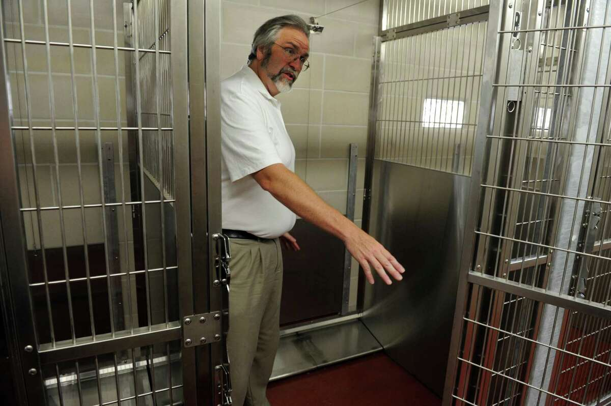 Architect Mark R. Halstead shows off the new Easton Animal Shelter at 385 Morehouse Road in Easton, Conn. Tuesday, July 16, 2013. The unopened shelter has been more than three years in the making.