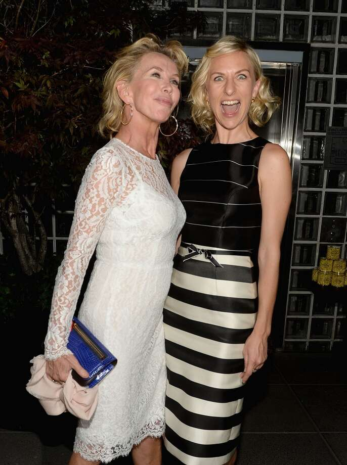 "Trudie Styler and Mickey Sumner attend The Cinema Society & Brooks Brothers Host A Screening Of Lionsgate And Roadside Attractions' ""Girl Most Likely"" After Party at Hotel Americano on July 15, 2013 in New York City.  (Photo by Jamie McCarthy/WireImage)"