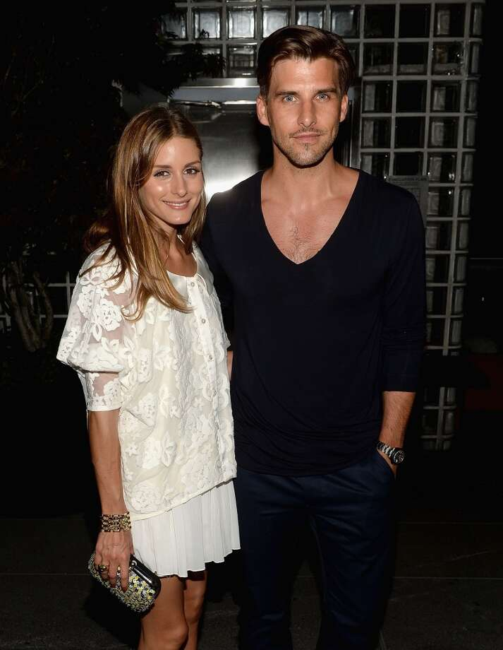 "Olivia Palermo and Johannes Huebl  attend The Cinema Society & Brooks Brothers Host A Screening Of Lionsgate And Roadside Attractions' ""Girl Most Likely"" After Party at Hotel Americano on July 15, 2013 in New York City.  (Photo by Jamie McCarthy/WireImage)"