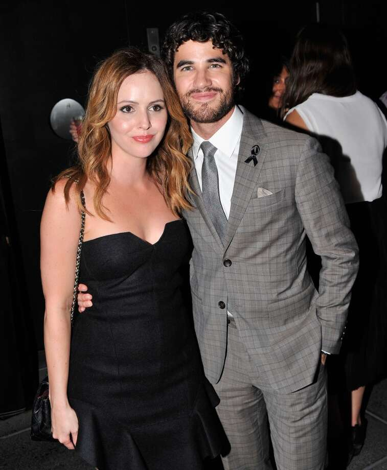 "Writer Michelle Morgan and actor Darren Criss attend the after party for The Cinema Society & Brooks Brothers Screening Of Lionsgate And Roadside Attractions' ""Girl Most Likely"" at Hotel Americano on July 15, 2013 in New York City.  (Photo by Stephen Lovekin/Getty Images)"