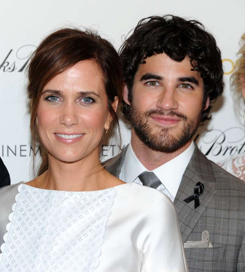 "Kristen Wiig and Darren Criss attend The Cinema Society & Brooks Brothers Host A Screening Of Lionsgate And Roadside Attractions' ""Girl Most Likely""s at Landmark Sunshine Cinema on July 15, 2013 in New York City.  (Photo by Ilya S. Savenok/FilmMagic)"