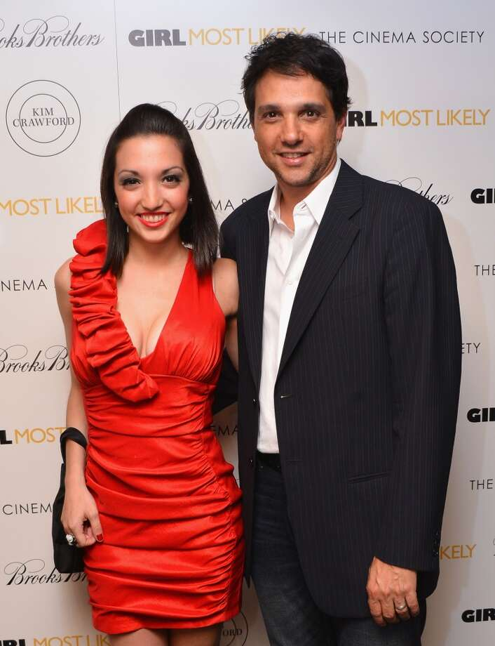 """Actress Julia Macchio and father Ralph Macchio attend the screening of Lionsgate and Roadside Attractions' """"Girl Most Likely"""" hosted by The Cinema Society & Brooks Brothers at Landmark's Sunshine Cinema on July 15, 2013 in New York City.  (Photo by Stephen Lovekin/Getty Images)"""