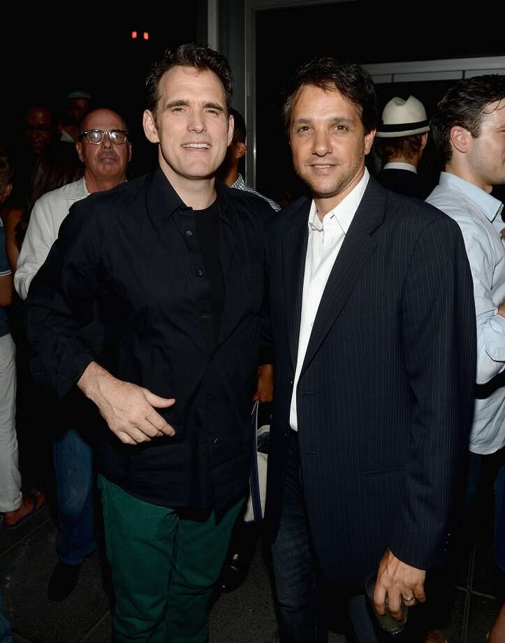 "Matt Dillon and Ralph Macchio attend The Cinema Society & Brooks Brothers Host A Screening Of Lionsgate And Roadside Attractions' ""Girl Most Likely"" After Party at Hotel Americano on July 15, 2013 in New York City.  (Photo by Jamie McCarthy/WireImage)"