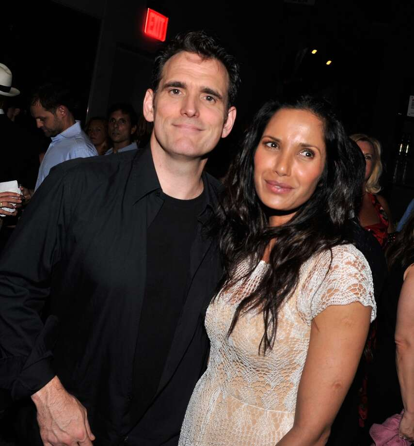 "Actor Matt Dillon and actor/TV personality Padma Lakshmi attend the after party for The Cinema Society & Brooks Brothers Screening Of Lionsgate And Roadside Attractions' ""Girl Most Likely"" at Hotel Americano on July 15, 2013 in New York City.  (Photo by Stephen Lovekin/Getty Images)"