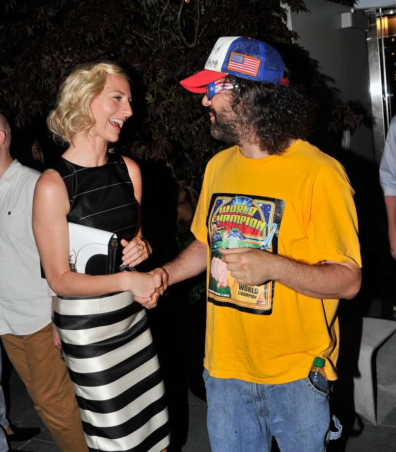 "Actors Mickey Sumner and Judah Friedlander attend the after party for The Cinema Society & Brooks Brothers Screening Of Lionsgate And Roadside Attractions' ""Girl Most Likely"" at Hotel Americano on July 15, 2013 in New York City.  (Photo by Stephen Lovekin/Getty Images)"