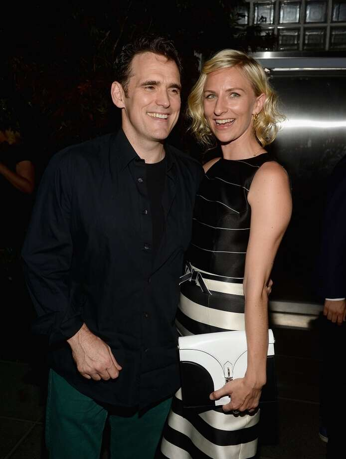"""Matt Dillon and Mickey Sumner attend The Cinema Society & Brooks Brothers Host A Screening Of Lionsgate And Roadside Attractions' """"Girl Most Likely"""" After Party at Hotel Americano on July 15, 2013 in New York City.  (Photo by Jamie McCarthy/WireImage)"""
