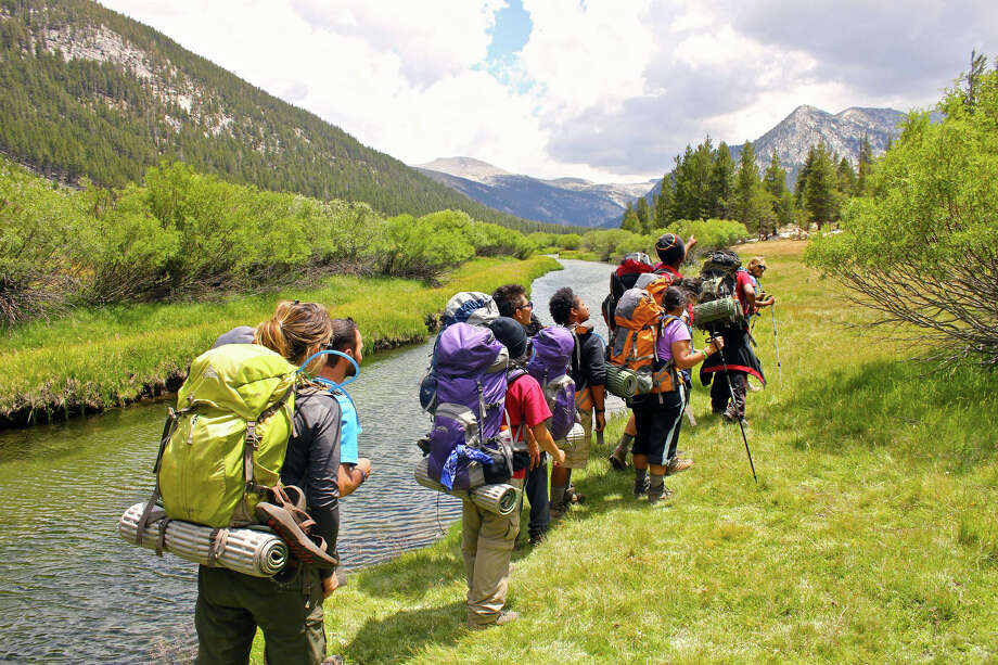 Students from several Houston high schools hiked through Yosemite National Park on a camping trip sponsored by The Woods Project in 2012. Photo: --