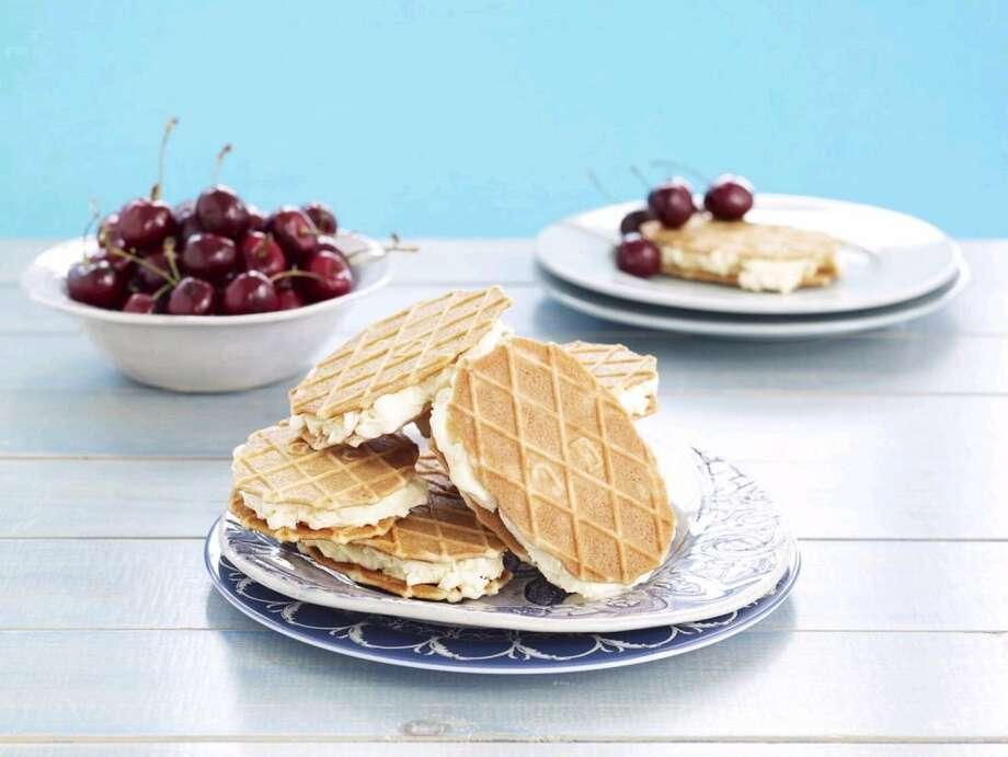 Good Housekeeping recipe for Honey-Vanilla Ice Cream Sandwiches. Photo: Frances Janisch