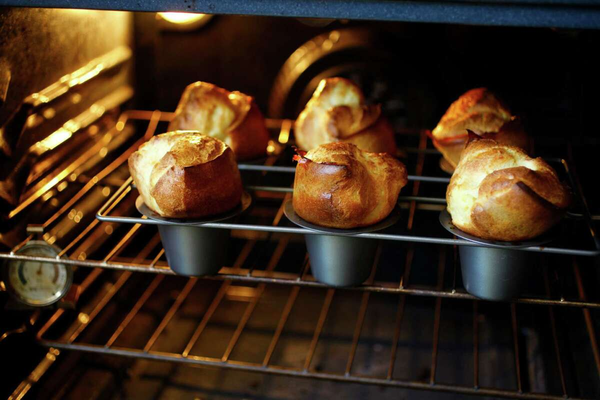Over-the-top popovers as seen in San Francisco, California, on May 22, 2013. Food styled by Lynne Bennett.