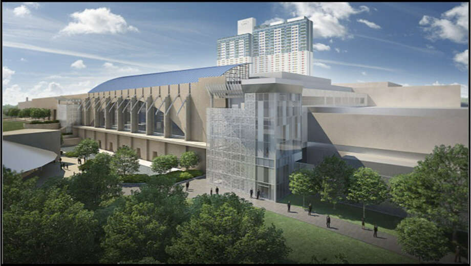 Commissioners are concerned that the south entrance of the expanded Convention Center might not be large enough. Photo: Courtesy Illustration