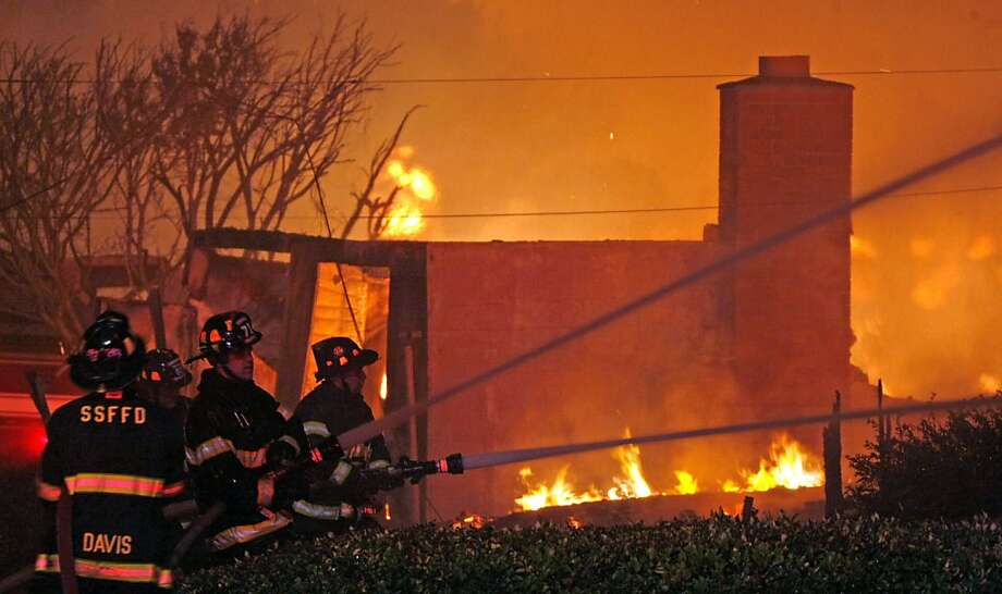 The 2010 explosion of a natural gas line in San Bruno touched off a fire that killed eight and destroyed 38 homes. Photo: Lance Iversen, The Chronicle