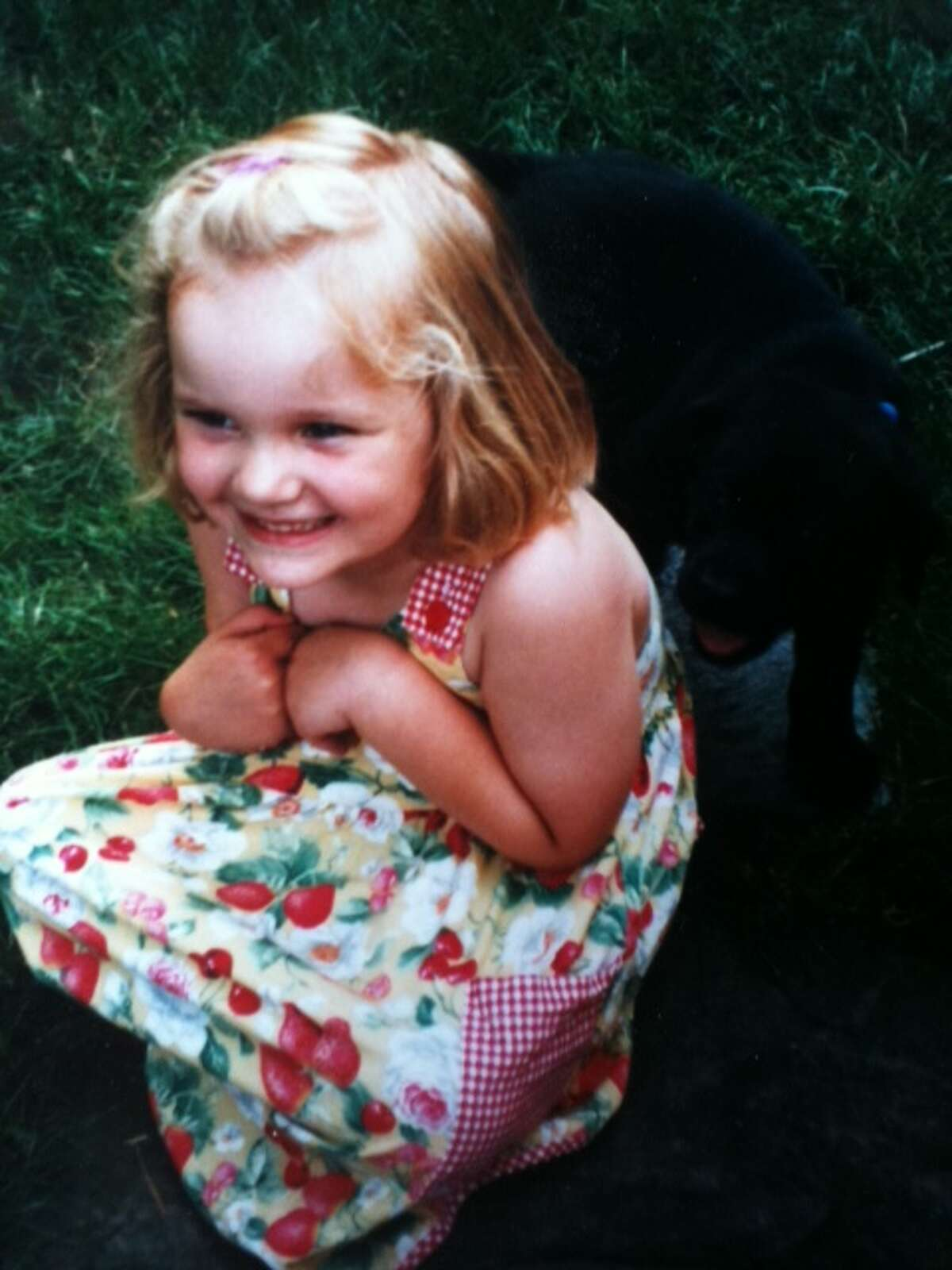 Caroline Grondahl on her 4th birthday, when she got Daisy as a surprise birthday present. (Paul Grondahl)