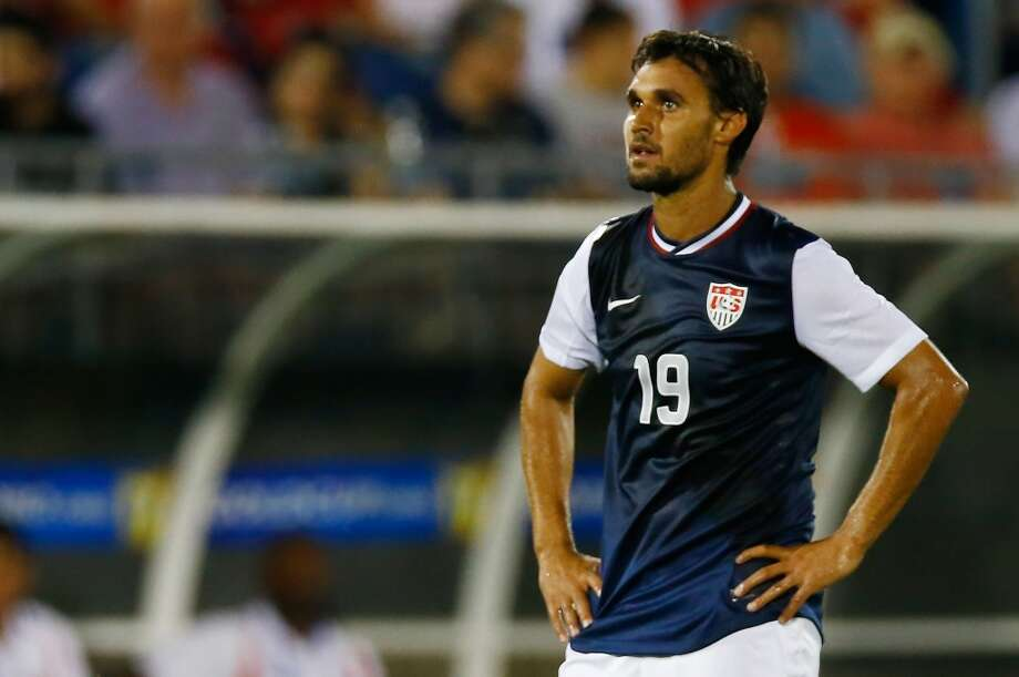 HARTFORD, CT - JULY 16: Chris Wondolowski #19 of the United States looks on before being pulled from the game late in the second half against Costa Rica during the CONCACAF Gold Cup match at Rentschler Field on July 16, 2013 in East Hartford, Connecticut. (Photo by Jared Wickerham/Getty Images)