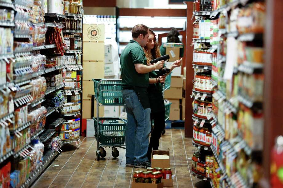 Smaller than a traditional grocery store, The Fresh Market does sell a few mass-market items. That includes Jif peanut butter, which will be found near the Once Again organic sunflower seed butter. Photo: Eric Kayne, For The Chronicle / ©2013 Eric Kayne