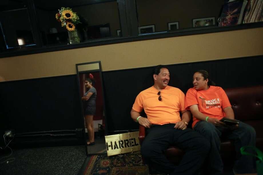 "Bruce Harrell waits backstage during ""Candidate Survivor,"" a distinctly Seattle twist on local politics. Photo: JOSHUA TRUJILLO, SEATTLEPI.COM"