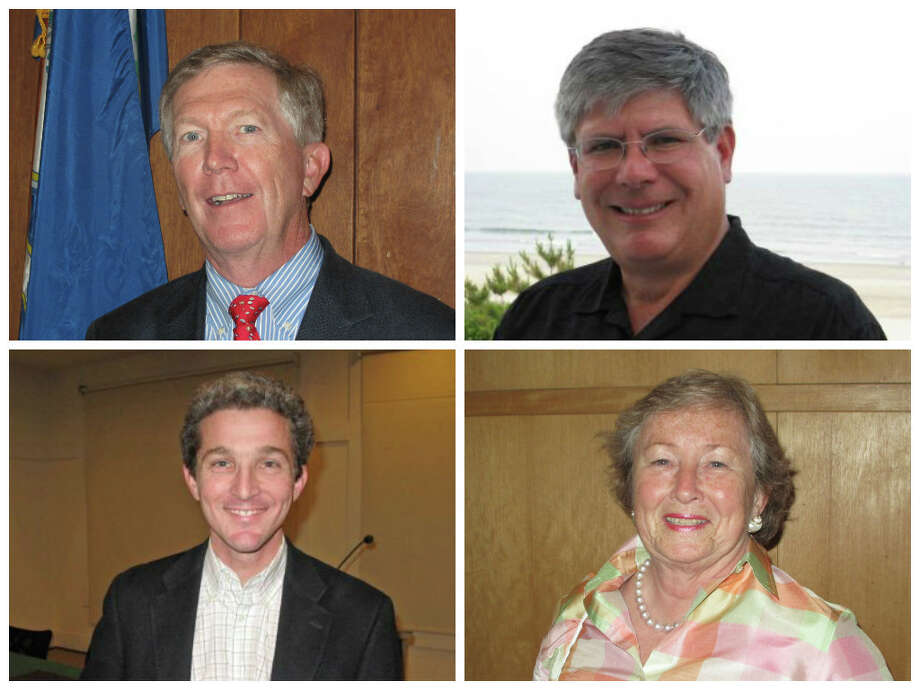 The following Republicans were endorsed for seats on the Town Council by voters at Tuesday night's Republican caucus. Clockwise from top, left: Kevin Moynihan, Bill Walbert, Penny Young and John Engel. Photo: Tyler Woods