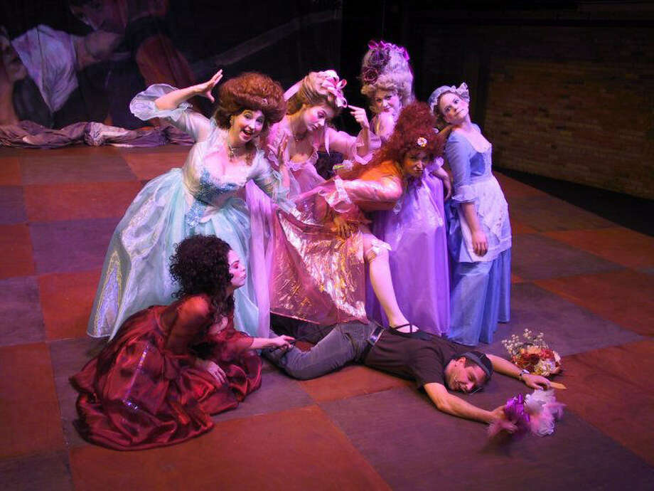 "AtticRep director Rick Frederick (on the floor) did the hair and makeup for this production of ""Madame DeSade."" He is one of the speakers for the McNay Mash-Up lecture series. Photo: Courtesy McNay Art Museum"