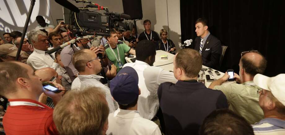 Johnny Manziel was the centerpiece of Wednesday's media session.