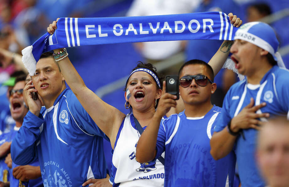 Fans of El Salvador before the start of a 2013 CONCACAF Gold Cup soccer match against Trinidad and Tobago on July 8, 2013 at Red Bull Arena in Harrison, New Jersey. Photo: Rich Schultz, Getty Images / 2013 Getty Images