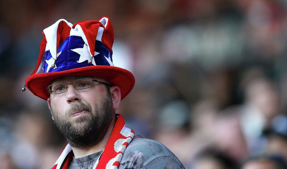 A fan of the United States cheers against Belize during the 2013 CONCACAF Gold Cup on July 9, 2013 at Jeld-Wen Field in Portland, Oregon. Photo: Jonathan Ferrey, Getty Images / 2013 Getty Images