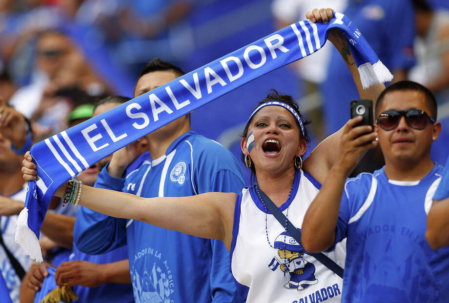 A fan of El Salvador watches the action during the first half of a 2013 CONCACAF Gold Cup soccer match against Trinidad and Tobago on July 8, 2013 at Red Bull Arena in Harrison, New Jersey. Photo: Rich Schultz, Getty Images / 2013 Getty Images