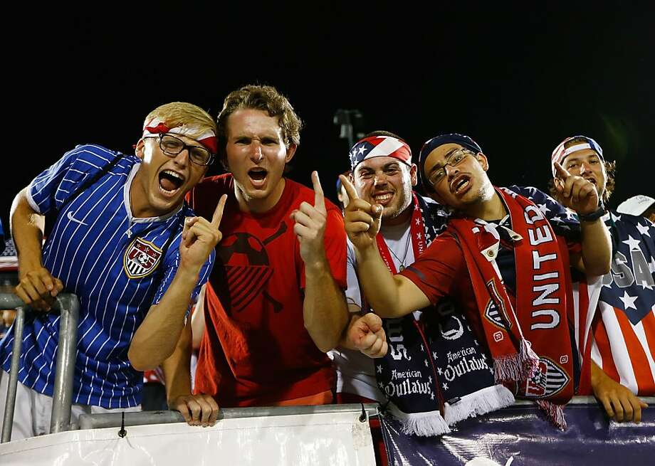 Fans of the United States cheer in the second half during the CONCACAF Gold Cup match at Rentschler Field on July 16, 2013 in East Hartford, Connecticut. Photo: Jared Wickerham, Getty Images