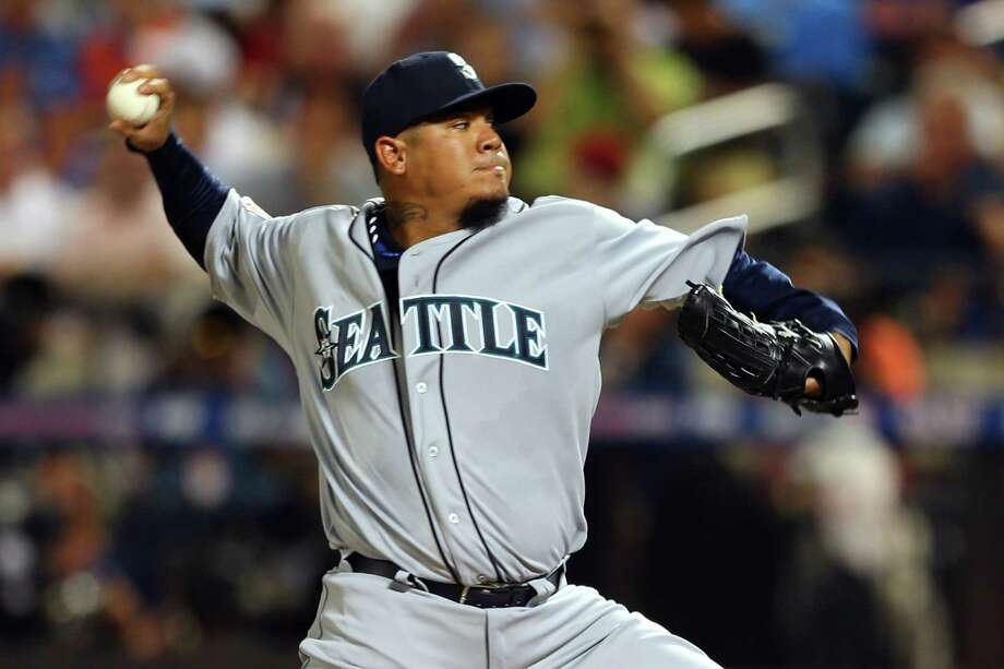 American League All-Star Felix Hernandez, of the Seattle Mariners, pitches during the 84th MLB All-Star Game on July 16, 2013, in Queens, N.Y. Photo: Mike Ehrmann, Getty Images / 2013 Getty Images