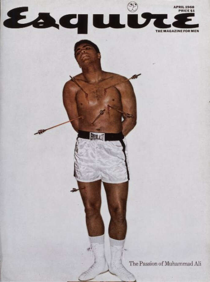 Muhammad Ali's depiction of the martyred St. Sebastian on the April 1968 cover of Esquire has become one of the most well-known and spoofed covers in magazine history. Ali had converted to Islam the prior year.