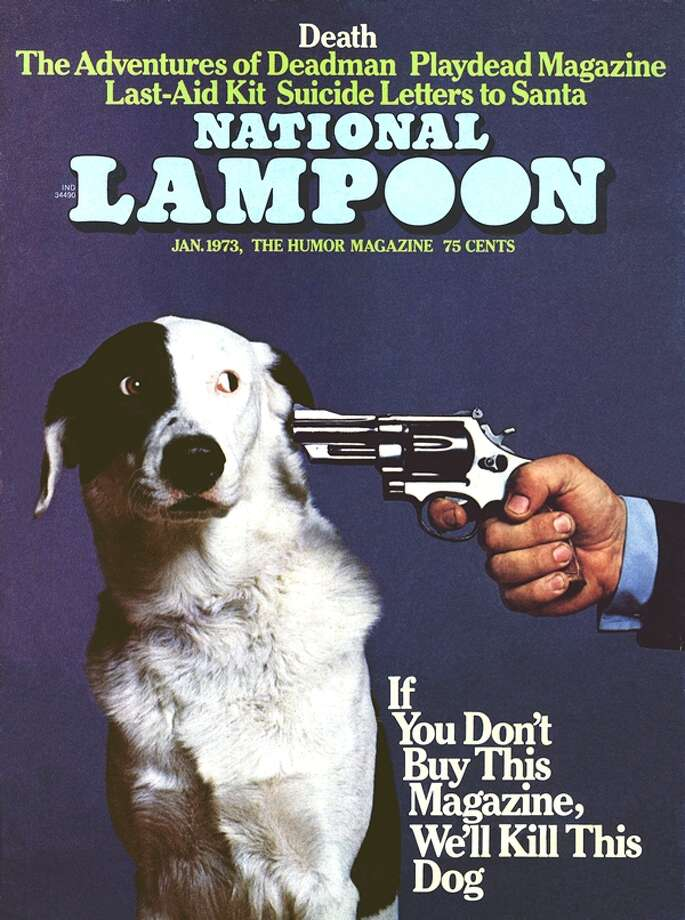 National Lampoon's tongue-in-cheek, gun-against-cheek plea for readers did not please animal lovers.