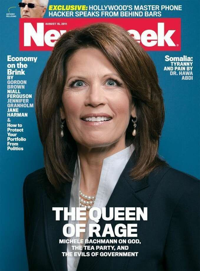 This posed shot of politician Michele Bachmann wasn't the most flattering pic, and many in the GOP felt it was intentionally chosen to make the former presidential candidate look deranged and aloof.