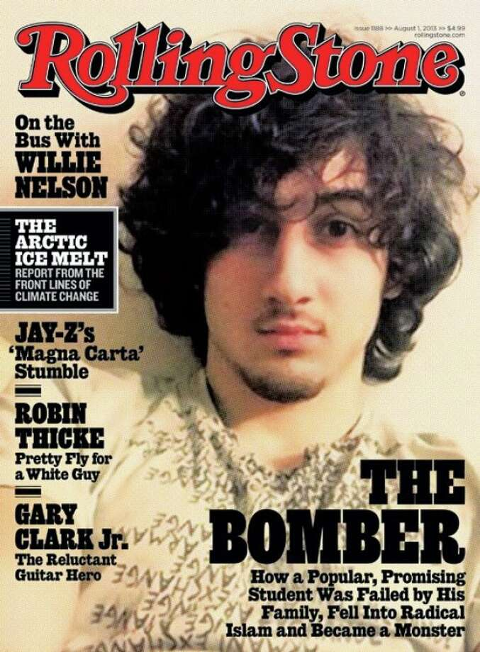 "Rolling Stone created an internet firestorm when the cover of it's August 1, 2013 leaked, showing what many called ""rock star treatment"" for alleged Boston bombing suspect Dzhokhar Tsarnaev."