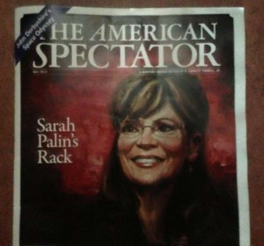 "The lesser known American Spectator drew criticism for using the line ""Sarah Palin's Rack"" to promote an inside story about Palin's ""rack"" of accomplishments."