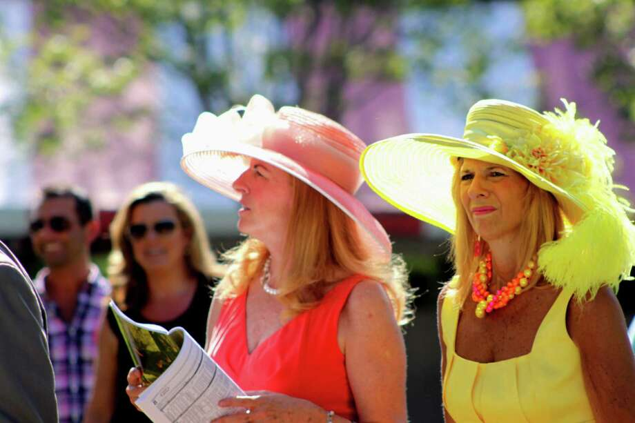 "Winner: ""Winning style."" These two women looked as bright and pretty as the wonderful weather we had on Saturday. I say 'Hats Off' to them! Photo: Karen Pietropaoli / North Grafton, Mass."