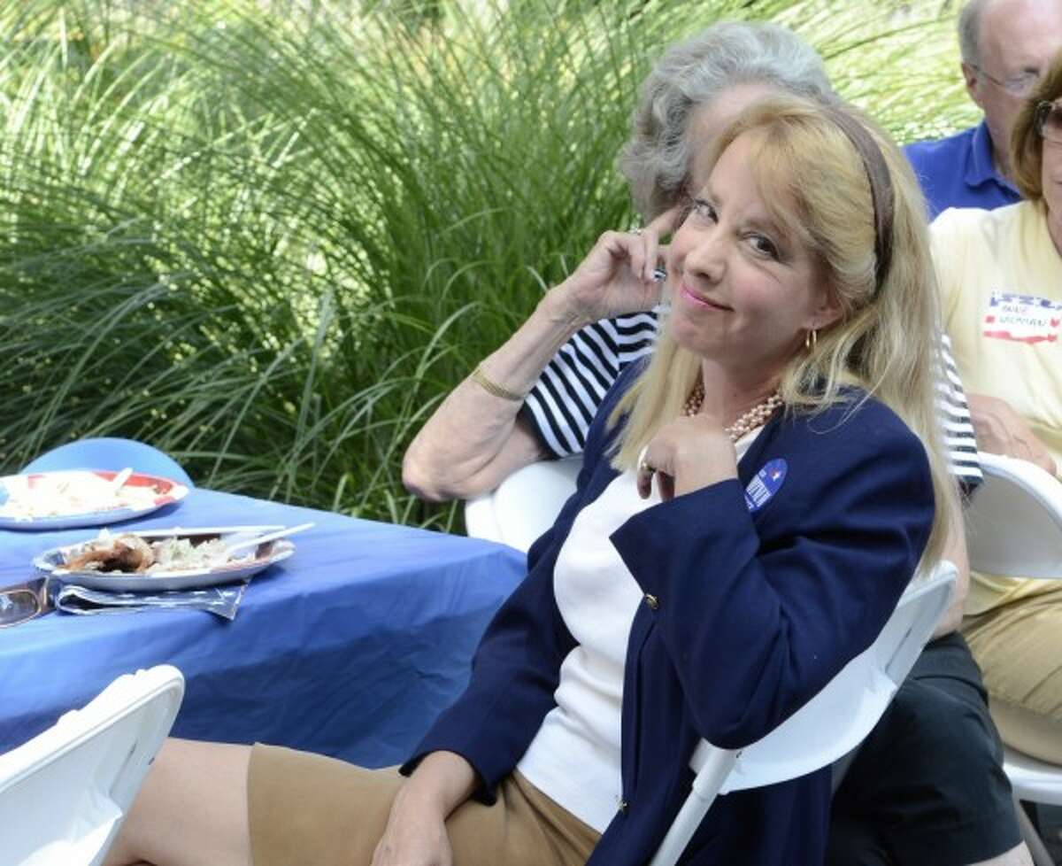 Lee Whitnum attends the Greenwich Democratic Town Committee's annual campaign kickoff and picnic at the Garden Education Center in Cos Cob, CT on Saturday, September 10, 2011.