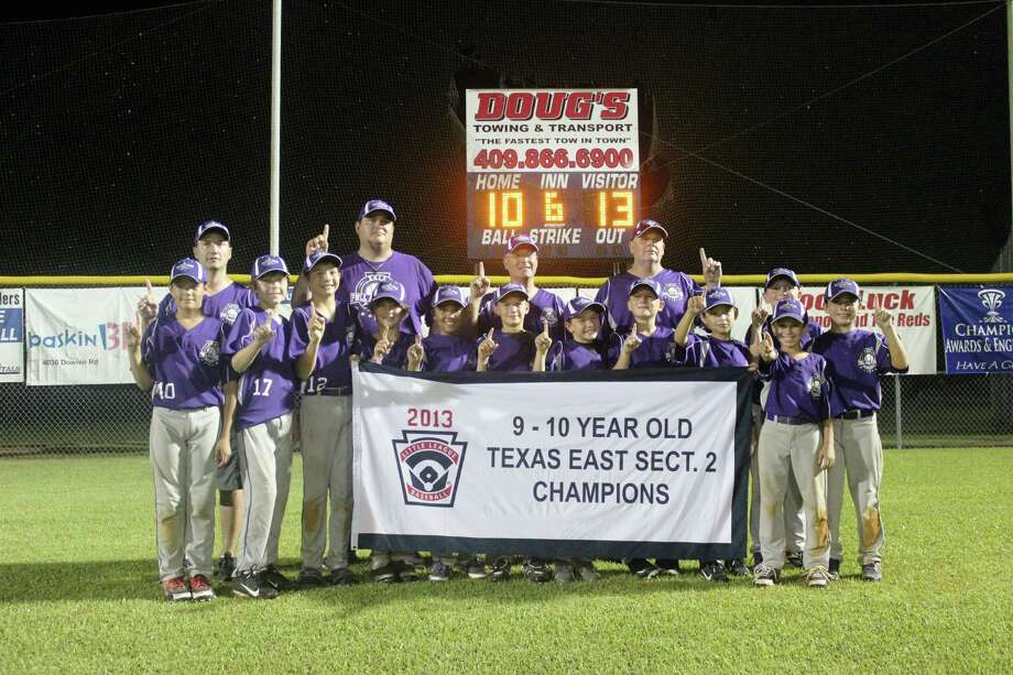 The Port Neches Little League 10U poses in front of the scoreboard after defeating Jasper 13-10 to win the Texas East Section 2 championship on July 12. They will begin play at the Texas East State Championship on July 20 in Tyler. They are undefeated this season. Photo: Kristi Abshire