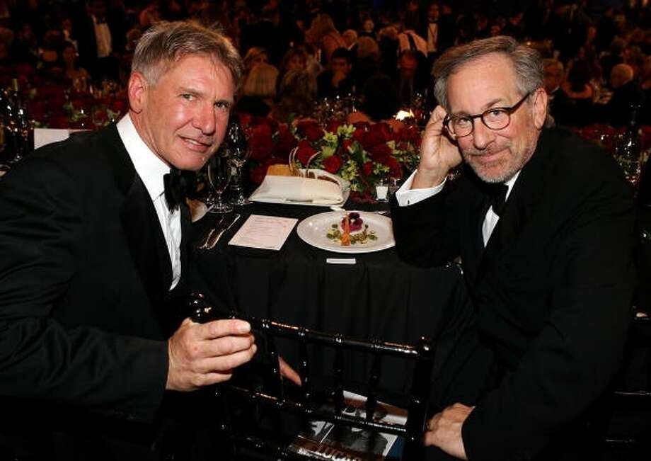 Actor Harrison Ford and director Steven Spielberg (Getty Images)