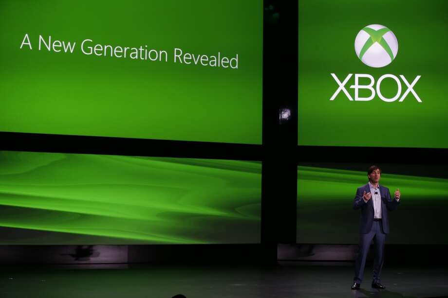 Former Microsoft Corp.'s Don Mattrick unveils the next-generation Xbox One entertainment and gaming console system, Tuesday, May 21, 2013, at an event in Redmond, Wash.